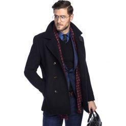 Płaszcz SAMUELE PSGS000029. Czarne płaszcze na zamek męskie marki Giacomo Conti, m, z wełny. Za 999,00 zł.