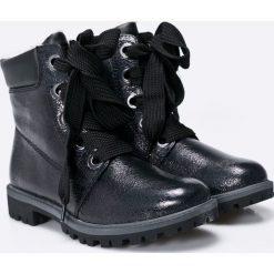 Tamaris - Botki. Szare buty zimowe damskie marki Tamaris, z materiału, na sznurówki. W wyprzedaży za 139,90 zł.