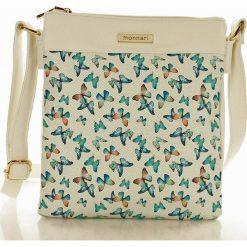 Listonoszki damskie: Wyjątkowa torebka listonoszka w motylki biel ALEXIS