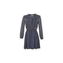 Sukienki krótkie Naf Naf  LARTE. Niebieskie sukienki mini marki NAF NAF, z krótkim rękawem. Za 247,20 zł.