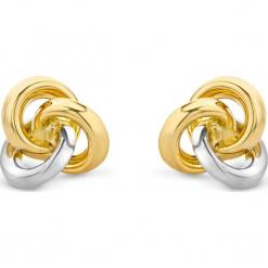 Złote kolczyki-wkrętki. Szare kolczyki damskie REVONI, złote. W wyprzedaży za 388,95 zł.