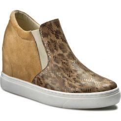 Sneakersy BALDACCINI - 796500-A Sugar 01/Beż Zamsz. Brązowe sneakersy damskie Baldaccini, ze skóry. W wyprzedaży za 259,00 zł.