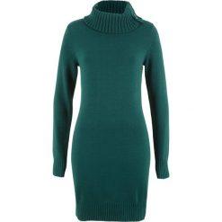Długi sweter bonprix głęboki zielony. Brązowe swetry klasyczne damskie marki DOMYOS, xs, z bawełny. Za 89,99 zł.