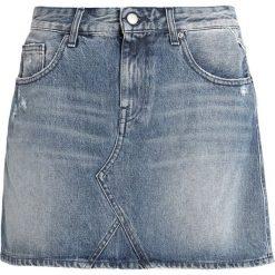 Replay SKIRT Spódnica trapezowa blue denim. Niebieskie minispódniczki marki Replay. Za 409,00 zł.