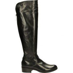 Kozaki - 8855 NAP NERO. Żółte buty zimowe damskie marki Venezia, ze skóry. Za 999,00 zł.
