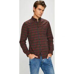Wrangler - Koszula. Brązowe koszule męskie na spinki Wrangler, m, w kratkę, z bawełny, button down, z długim rękawem. Za 219,90 zł.
