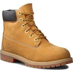Trapery TIMBERLAND - 6in Prem Wheat 12909 Wheat Nubuc Yellow. Brązowe buty zimowe chłopięce marki Timberland, z materiału. W wyprzedaży za 409,00 zł.