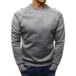 Bluzy męskie: Bluza męska bez kaptura szara (bx1953)