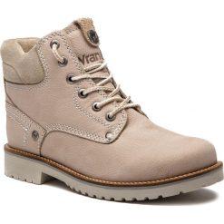 Trapery WRANGLER - Yuma Lady WL182507 Ice 91. Brązowe buty zimowe damskie Wrangler, z materiału. W wyprzedaży za 279,00 zł.