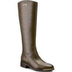 Kozaki GINO ROSSI - Amalfia DKG151-G33-4300-4700-F Zielony 81. Zielone buty zimowe damskie marki Gino Rossi, z materiału, przed kolano, na wysokim obcasie, na obcasie. W wyprzedaży za 479,00 zł.