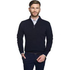 Sweter onley troyer granatowy. Niebieskie swetry klasyczne męskie Recman, m, z kołnierzem typu troyer. Za 249,00 zł.