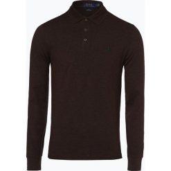 Polo Ralph Lauren - Męska koszulka polo – Slim fit, brązowy. Brązowe koszulki polo Polo Ralph Lauren, l, z długim rękawem. Za 529,95 zł.