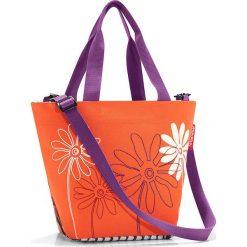 Shopper bag damskie: Shopper bag w kolorze pomarańczowo-fioletowym – 31 x 21 x 16 cm