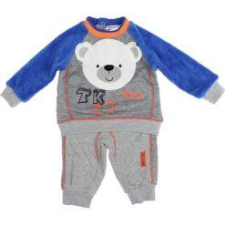 Spodnie niemowlęce: 2-częściowy zestaw w kolorze szaro-niebieskim