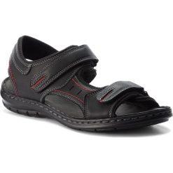 Sandały LANETTI - MSA426-1 Czarny. Czarne sandały męskie skórzane Lanetti. Za 89,99 zł.
