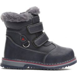 Granatowe Traperki Nonrural. Niebieskie buty zimowe chłopięce Born2be, z materiału, z okrągłym noskiem, na zamek. Za 59,99 zł.