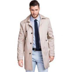Płaszcz PIETRO 2 PSES000002. Brązowe płaszcze na zamek męskie Giacomo Conti, na lato, m, z aplikacjami. Za 599,00 zł.