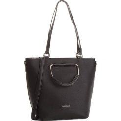 Torebka MONNARI - BAG9910-020 Black. Brązowe torebki klasyczne damskie marki Monnari, w paski, z materiału, średnie. W wyprzedaży za 199,00 zł.