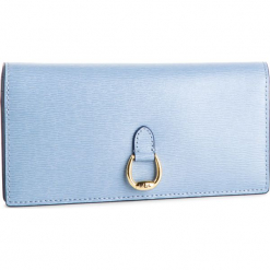 Duży Portfel Damski LAUREN RALPH LAUREN - Bennington 432688519014  Blue. Niebieskie portfele damskie Lauren Ralph Lauren, ze skóry. Za 569,00 zł.
