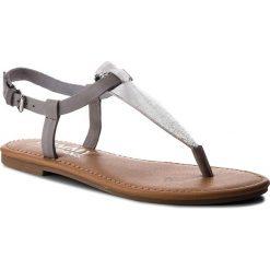 Chodaki damskie: Japonki TOMMY JEANS – Metallic Flat Thong Sandal EN0EN00205 Silver 000