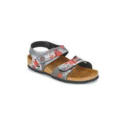 Sandały Dziecko  Birki's  BARI. Czerwone sandały dziewczęce marki Born2be, z materiału, z otwartym noskiem, na zamek. Za 231,20 zł.
