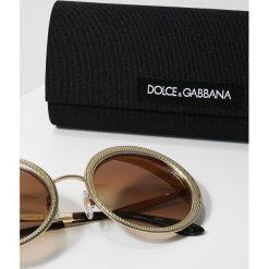 Dolce&Gabbana Okulary przeciwsłoneczne brown gradient. Brązowe okulary przeciwsłoneczne damskie lenonki Dolce&Gabbana. Za 1089,00 zł.