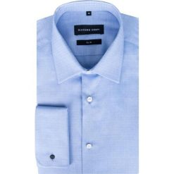 Koszula SIMONE KDNS000278. Niebieskie koszule męskie na spinki marki Giacomo Conti, m, z tkaniny, klasyczne. Za 199,00 zł.