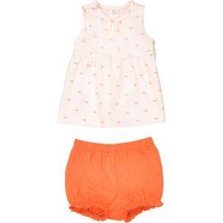 Komplecik dziecięcy: koszulka bez rękawów + krótkie spodenki 1 miesiąc - 3 latka - Oeko-Tex®. Czerwone bluzki dziewczęce La Redoute Collections, z nadrukiem, z bawełny. Za 50,36 zł.