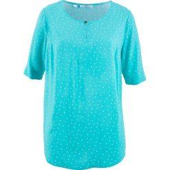 Bluzki damskie: Bluzka, krótki rękaw bonprix morski wzorzysty