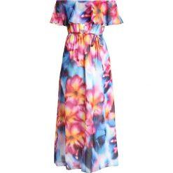 Dorothy Perkins RUFFLE DRESS Długa sukienka multi. Różowe długie sukienki marki Dorothy Perkins, z materiału, z długim rękawem. Za 389,00 zł.