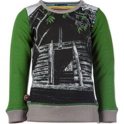 """Bluza """"Treehouse"""" w kolorze zielono-szarym. Zielone bluzy niemowlęce 4FunkyFlavours Kids, z nadrukiem. W wyprzedaży za 102,95 zł."""