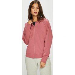 Adidas Performance - Bluza. Różowe bluzy z kieszeniami damskie adidas Performance, l, z bawełny, bez kaptura. W wyprzedaży za 199,90 zł.