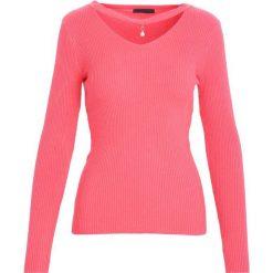 Swetry klasyczne damskie: Różowy Sweter Shine Brightly