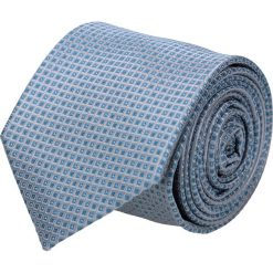Krawat platinum niebieski classic 218. Niebieskie krawaty męskie Recman, z materiału, eleganckie. Za 49,00 zł.