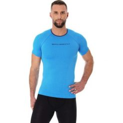 Koszulki sportowe męskie: Brubeck Koszulka męska 3D Bike PRO z krótkim rękawem niebieska r. L (SS11930)