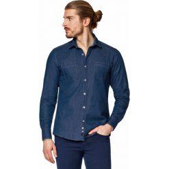 Koszula Jeansowa Niebieska Francis. Niebieskie koszule męskie jeansowe LANCERTO, m, z klasycznym kołnierzykiem. W wyprzedaży za 199,90 zł.