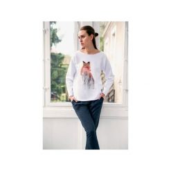 Bluzy damskie: FOX bluza oversize biała