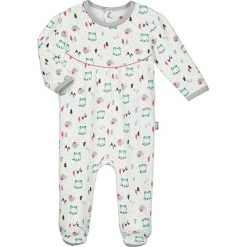 Śpiochy niemowlęce: Śpioszki w kolorze białym ze wzorem