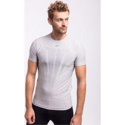 Odzież termoaktywna męska: Koszulka treningowa męska TSMF206 - jasny szary melanż