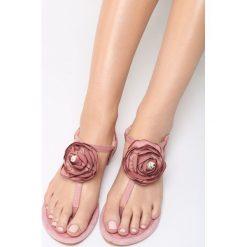 Różowe Sandały Shimmer Heart. Czerwone sandały damskie Born2be, z materiału, na obcasie. Za 59,99 zł.