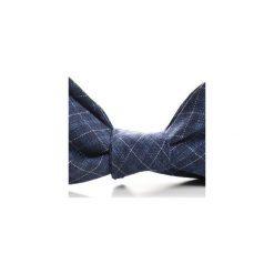 Mucha wiązana TARIFA kratka. Niebieskie muchy męskie HisOutfit, w kratkę, z materiału, wizytowe. Za 89,00 zł.