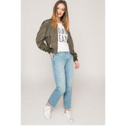 Tommy Jeans - Kurtka. Szare bomberki damskie marki Tommy Jeans, l, z elastanu. W wyprzedaży za 399,90 zł.