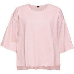 Bluza dresowa bonprix stary jasnoróżowy - srebrny. Czerwone bluzy damskie bonprix, z dresówki. Za 74,99 zł.