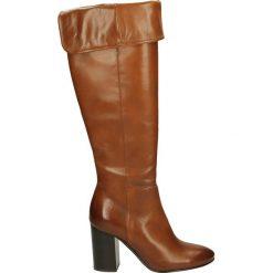 Kozaki ocieplane - WAVE2308 CINN. Brązowe buty zimowe damskie Venezia, ze skóry. Za 319,00 zł.