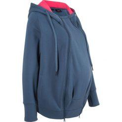 Bluza ciążowa rozpinana, z wstawką niemowlęcą bonprix indygo. Niebieskie bluzy ciążowe marki bonprix. Za 99,99 zł.