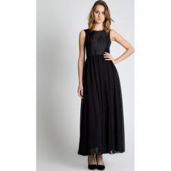 Czarna sukienka maxi BIALCON. Czarne sukienki marki Reserved, biznesowe. W wyprzedaży za 170,00 zł.