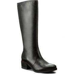 Kozaki LASOCKI - 7438-04 Czarny. Czarne buty zimowe damskie marki Kazar, ze skóry, na wysokim obcasie, na sznurówki. Za 329,99 zł.