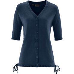 Sweter rozpinany bonprix ciemnoniebieski. Niebieskie kardigany damskie bonprix. Za 74,99 zł.