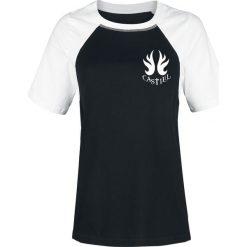 Supernatural Castiel Koszulka damska czarny/biały. Białe bluzki asymetryczne Supernatural, xxl, z nadrukiem, z okrągłym kołnierzem. Za 62,90 zł.