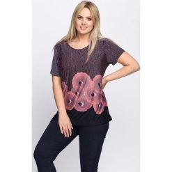 T-shirty damskie: Granatowo-Różowy T-shirt Sweetest Thing